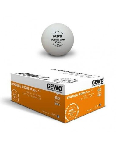 Balls GEWO P40+ Double Star 2** plástic. Pack 60