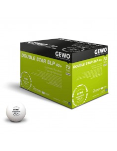 Balles en plastique GEWO P40+ Double Star 2**. Pack 60