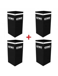 GEWO towelbox black PACK X4