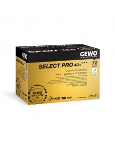 Balles GEWO Select Pro 40+ *** ABS Pack 72