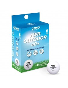 Pelota GEWO AWR Outdoor 40+ ball pack 6
