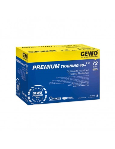 GEWO balles Premium Training 40+** PACK 72