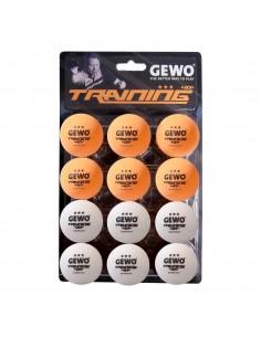 GEWO Training balle *** 40+ Pack 12 (2 couleurs)